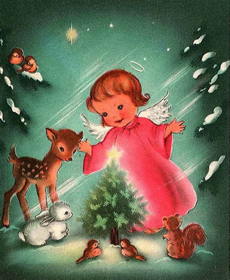 vintage holiday images cards