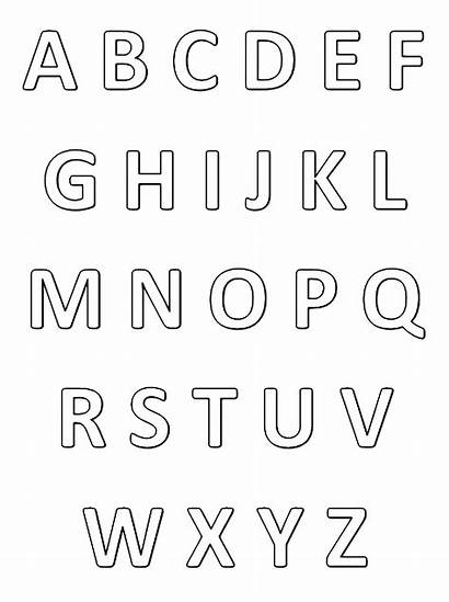 Alphabet Simple Coloring Very Worksheet Pages