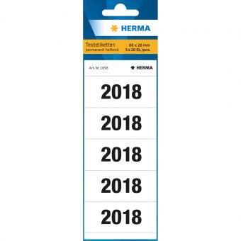 farbe in kche herma ordnerrcken jahreszahl 2018 wei 100 etiketten eoffice24