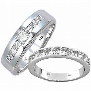 his and hers matching tungsten carbide wedding engagement With matching wedding rings