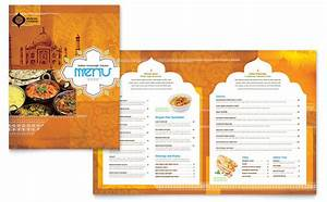 indian restaurant menu template design With templates for restaurant menus