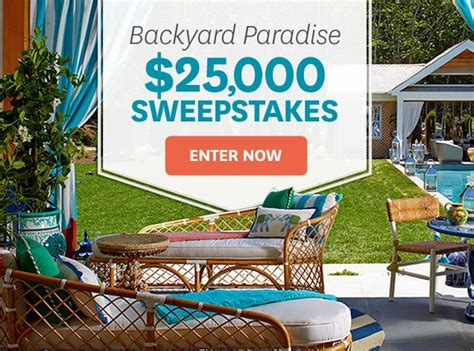 homes  gardens  backyard paradise sweepstakes