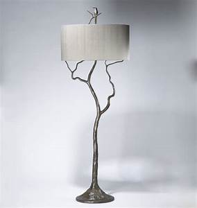 tall tree humming bird floor lamp in grey painted pewter With tall tree floor lamp
