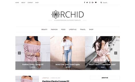 orchid  clean responsive personal blogger template