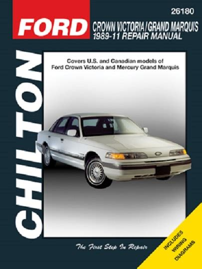 chilton car manuals free download 2002 ford crown victoria electronic toll collection 1989 2011 ford crown victoria grand marquis chilton s total car care manual