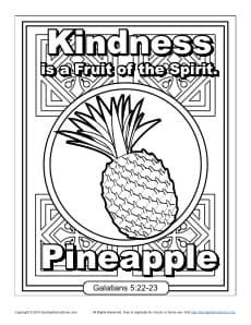 fruit   spirit  kids kindness coloring page