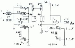 Subwoofer Pre Amp Filter Circuit Electronic