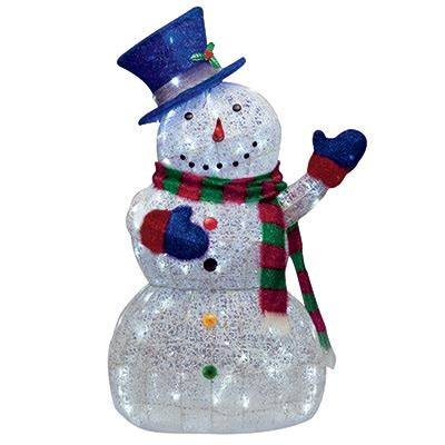 outdoor lighted snowman decorations christmas 48 quot led lighted sugar thread snowman lights
