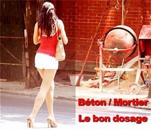 Dosage Pour Faire Du Beton : b ton et mortier le bon dosage de sable gravier ciment ~ Premium-room.com Idées de Décoration