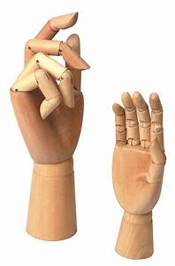 Wooden Hands With Movable Fingers Right Hand 8 Inch / 12