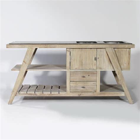 cdiscount cuisine en bois meuble de cuisine en vieux bois parkano bois blanchi