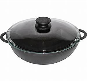 Kochen Mit Induktion : gusseisen wok pfanne f r gesundes kochen 26 28 cm mit deckel induktion biol ~ Watch28wear.com Haus und Dekorationen