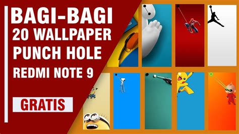 bagi bagi wallpaper punch hole redmi note  kuy