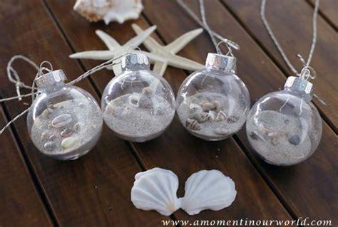diy beach themed christmas ornaments simple living