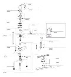 parts of a kitchen faucet diagram moen 7445 parts list and diagram ereplacementparts