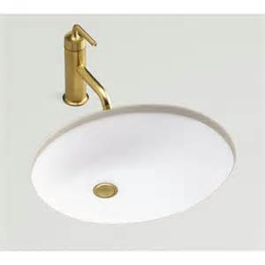 shop kohler caxton honed white undermount oval bathroom sink with overflow at lowes