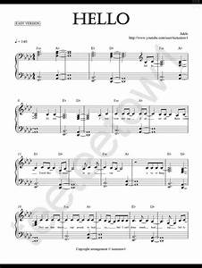 piano sheet music hello adele piano sheet for With piano music books with letters