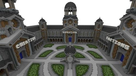 courtyard server hub  portals minecraft building