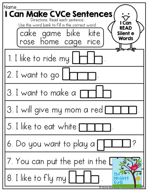 i can make cvce sentences tons of great printables