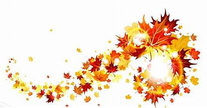 Border Transparent Leaves Fall Autumn Clipart Church