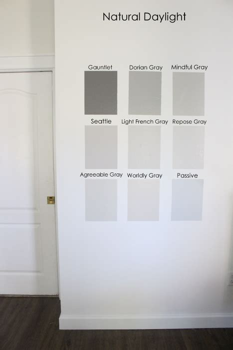 paint colors that go with light grey nine gray paint colors we put to the test for your home within the grove
