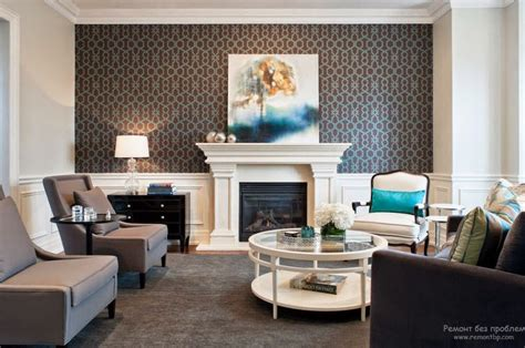 Tapeten Design Ideen Wohnzimmer by Trendy Living Room Wallpaper Ideas Colors Patterns And Types
