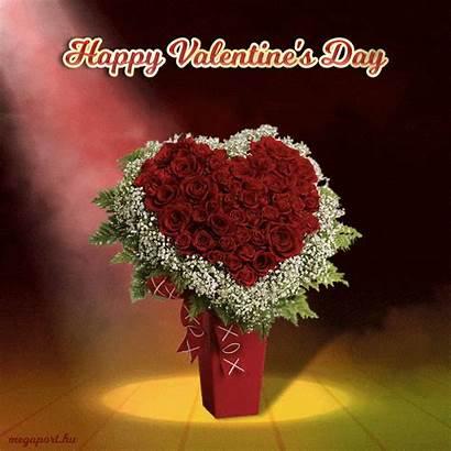 Valentine Happy Animated Bouquet Rose Heart Valentines