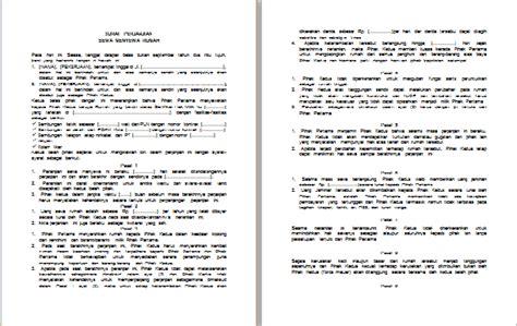 contoh surat perjanjian sewa kontrak rumah klik contoh