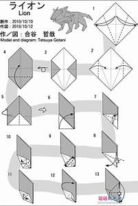 Free Coloring Pages  How To Make Origami Lion Instructions  Easy And Advanced Origami  Complex