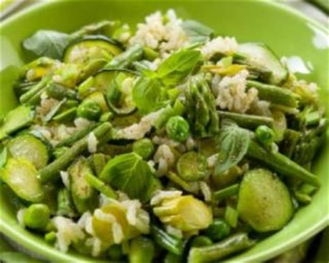 legume a cuisiner riz aux légumes verts
