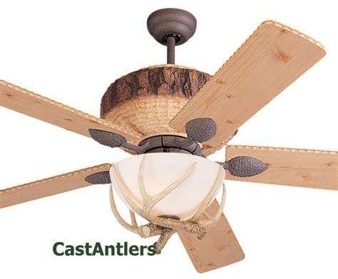 standard size fans 52 quot antler lodge ceiling fan