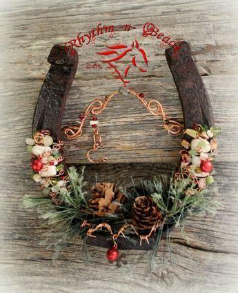 lucky colors christmas decor beaded horseshoe western and lucky horseshoe on