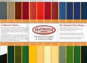 Chart Body Location Craftmaster Vintage Machinery Paints Colour Chart Off