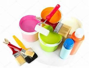 Ouvrir Un Pot De Peinture : fix e pour la peinture pots de peinture pinceaux peinture rouleau isol sur blanc ~ Medecine-chirurgie-esthetiques.com Avis de Voitures