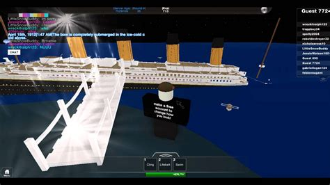 Titanic Sinking Simulation Free by Titanic Sinking Simulation In Roblox