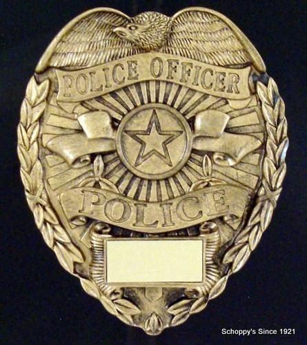 police badge plaque    schoppys