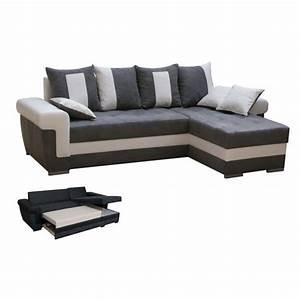 Canapé Angle 2 Places : canap d 39 angle 5 places quiny convertible angle achat vente canap sofa divan cdiscount ~ Teatrodelosmanantiales.com Idées de Décoration