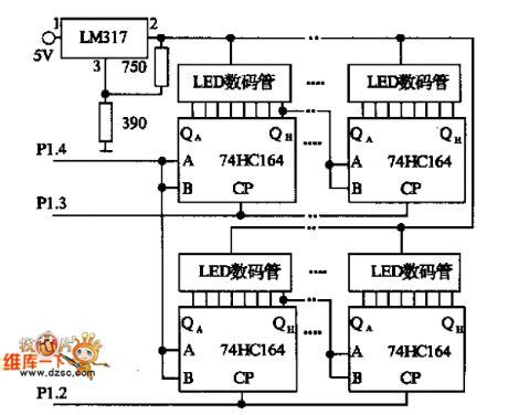 Led Digital Tube Static Display Drive Circuit Diagram