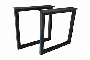 Tischgestell Metall Schwarz : tischbeine tischgestell aus schwarz lackiertem stahl tb104 der tischonkel ~ Frokenaadalensverden.com Haus und Dekorationen