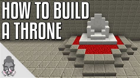how to build a minecraft how to build a throne