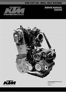 2003 Ktm 250 525 Sx Mxc Exc Engine Service  U0026 Repair Manual