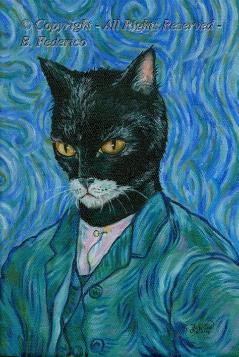gogh cat tuxedo cat vincent gogh