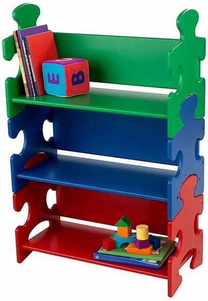Shelf Bookshelf Kidkraft Puzzle Clipart Bookcase Primary