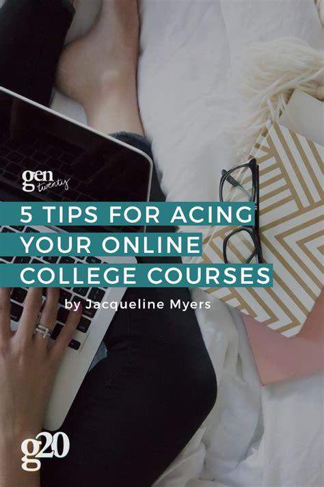 tips  acing   college courses gentwenty