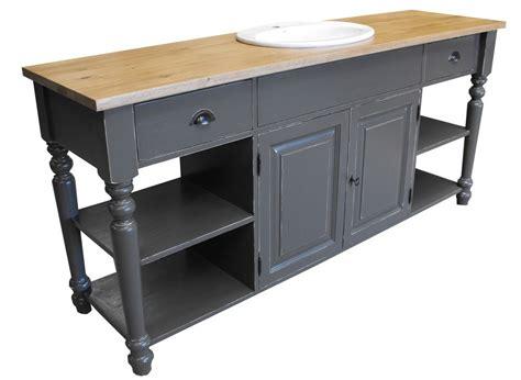 meuble cuisine zinc meuble salle de bain sur mesure 194 cm pin massif et
