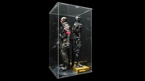 scale action figure display case  led light youtube