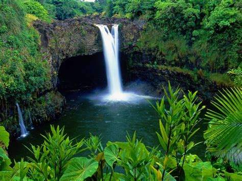 rainbow falls big island hawaii tropical beaches