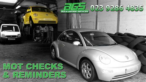 Mot Reminders & Checks From Aqua Garage Services