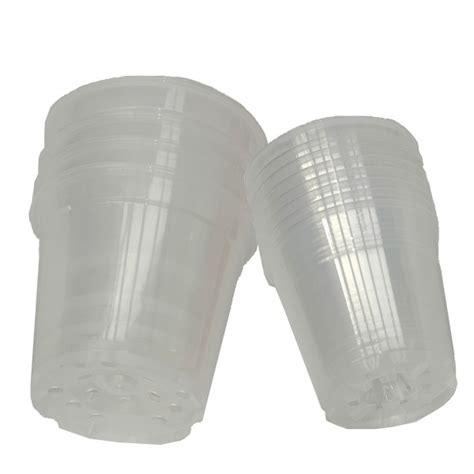 12 pots en plastique translucide diam 12cm lorchidee fr