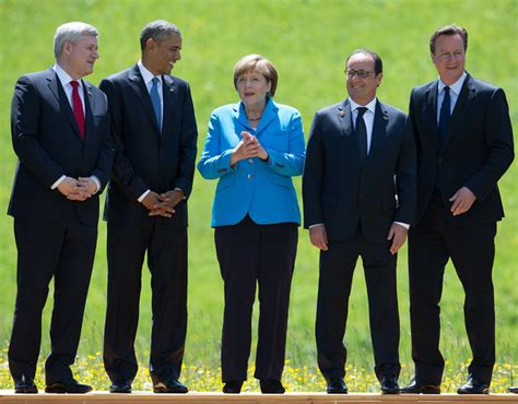 Ms merkel, who appeared to have inadvertently left her microphone on, could be heard talking as the prime minister was making his. Angela Merkel in G7 Leaders Meet For Summit at Schloss ...